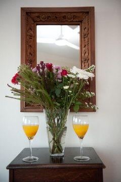 Flowers & orange juice